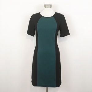41 Hawthorn Beckie Ponte Colorblock Dress Green S